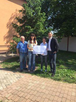 Spendenübergabe der Firma Theo Förch GmbH & Co. KG